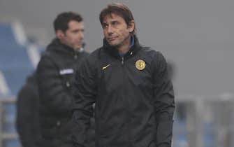 Inter's coach Antonio Conte during the Italian Serie A soccer match US Sassuolo vs FC Inter at Mapei Stadium in Reggio Emilia, Italy, 28 November 2020. ANSA /SERENA CAMPANINI