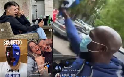 La festa dei giocatori sui social. FOTO-VIDEO
