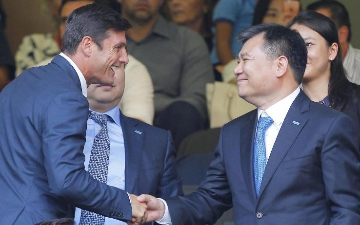 Zhang senior e Javier Zanetti