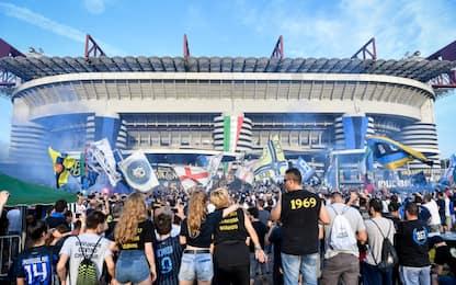 Festa scudetto, ok a 3mila tifosi fuori San Siro
