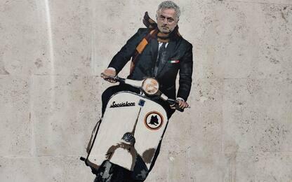 Mourinho sullo Specialone: il murale a Testaccio