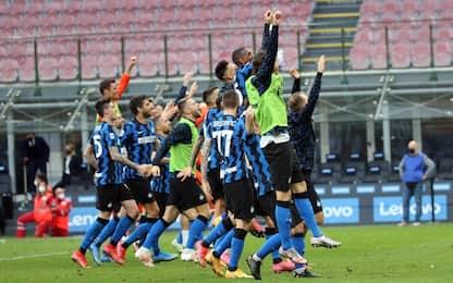 L'Inter onora scudetto e festa: 5-1 alla Sampdoria