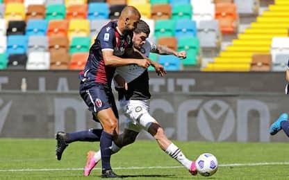 Udinese-Bologna 1-0 LIVE: Soumaoro sfiora il pari