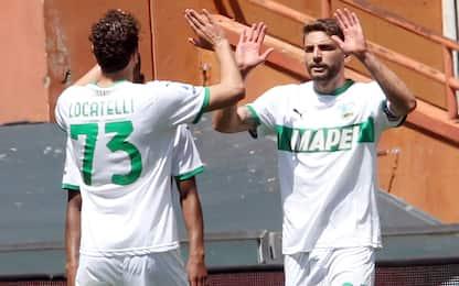 Raspadori-Berardi, 2-1 del Sassuolo sul Genoa