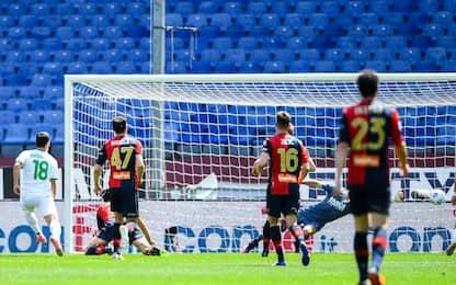 Genoa-Sassuolo 0-1 LIVE: gol annullato a Zajc