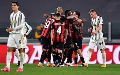 Milan, tris da Champions: Juve ko 3-0 a Torino