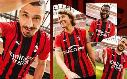 Il Milan svela la nuova maglia 2021-2022. FOTO
