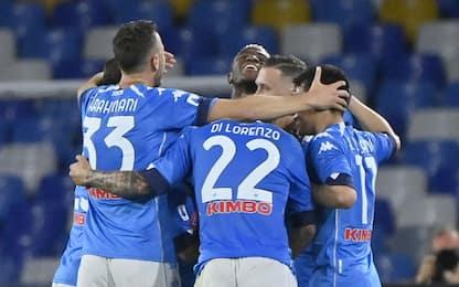 Il Napoli vola al secondo posto: 5-1 all'Udinese