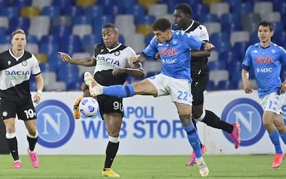 Napoli-Udinese 2-1 LIVE: accorcia Okaka