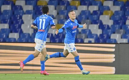 Napoli-Udinese 4-1 LIVE: Insigne prende l'incrocio