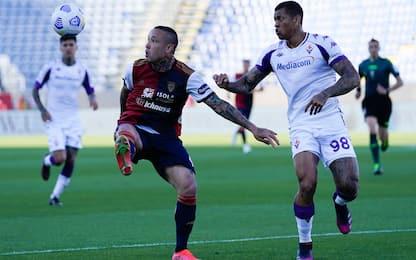 Cagliari-Fiorentina 0-0 LIVE: Kouamé spreca
