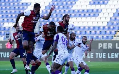 Cagliari-Fiorentina è 0-0, passo verso la salvezza