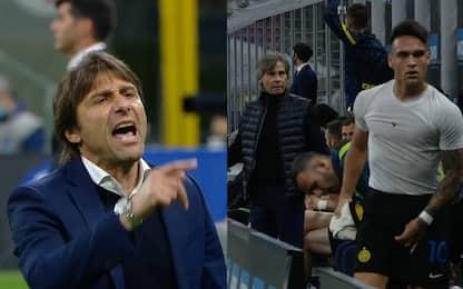 Lautaro-Conte, nervi tesi dopo il cambio. VIDEO