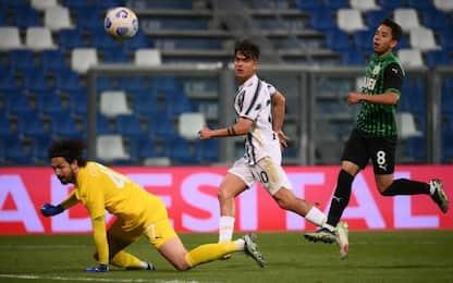 Sassuolo-Juve 1-3 LIVE: anche Dybala fa 100