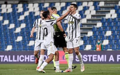 Ronaldo e Dybala fanno 100, Sassuolo-Juve 1-3