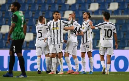 Sassuolo-Juve 0-2 LIVE: 100° gol di Ronaldo