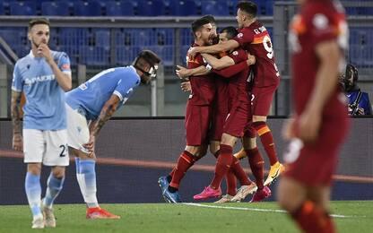 Derby alla Roma: Lazio ko 2-0 e niente Champions