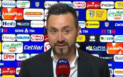 """De Zerbi: """"Lascio Sassuolo, di più non posso dare"""""""