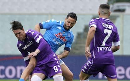 Fiorentina-Napoli 0-0 LIVE: traversa di Insigne
