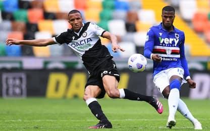 Udinese-Samp 0-0 LIVE: ci prova De Paul