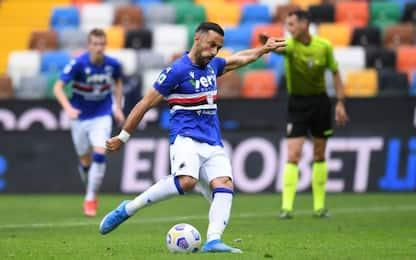 Quagliarella su rigore, la Samp vince a Udine 1-0