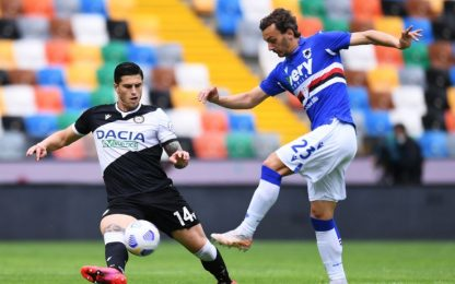 Udinese-Samp 0-0 LIVE: occasione per Augello