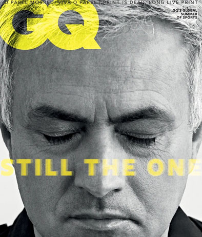 La copertina della versione portoghese di GQ