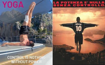 """Ibra """"capovolge"""" Ronaldo? Il suo yoga su Instagram"""