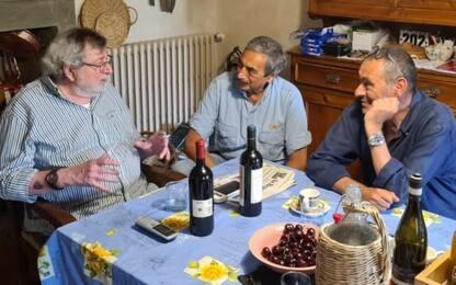 Sarri incontra il suo idolo: a cena con... Guccini