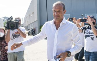TURIN, ITALY - July 14, 2021: Massimiliano Allegri, new head coach of Juventus FC, arrives at J Medical. Juventus FC begins pre-season trainings on July 14. (Photo by Nicolò Campo/Sipa USA)
