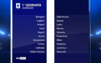 Serie A, tutte le giornate del nuovo campionato