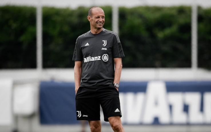 Allegri, nuovo primo giorno di allenamento alla Juve. Video   Sky ...