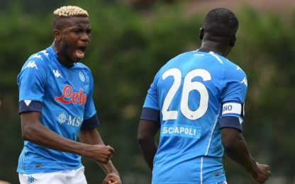 Il Napoli batte la Pro Vercelli: decide Osimhen