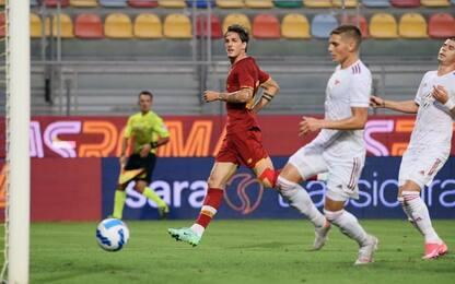 Zaniolo torna al gol: Roma-Debrecen 5-2
