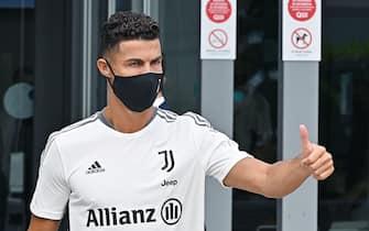 Juventus'player Cristiano Ronaldo arrives at J Medical Center of Juventus, Turin, 26 July 2021. ANSA/ALESSANDRO DI MARCO