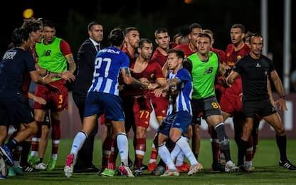 Pepe colpisce Mkhitaryan: maxi rissa in Porto-Roma