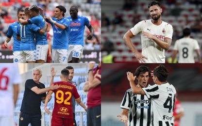 Napoli show, vince la Juve. Pari Milan e Roma