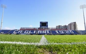 CAGLIARI, ITALY - DECEMBER 13:  A general view inside the stadium prior to the Serie A match between Cagliari Calcio and FC Internazionale at Sardegna Arena on December 13, 2020 in Cagliari, Italy.  (Photo by Claudio Villa - Inter/Inter via Getty Images)