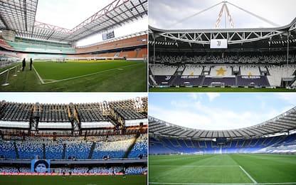 Tutti gli stadi della Serie A 2021-2022