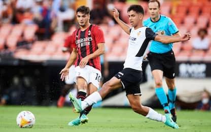 Milan, 0-0 a Valencia: poi perde ai rigori 5-3