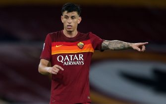 Rome, Italy - 27/09/2020: Roger Ibanez (AS ROMA)  in action during the Italian Serie A league 20/21 soccer match  between As Roma and FC Juventus, at Olympic Stadium in Rome.