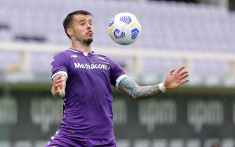 Lorenzo Venuti (ACF Fiorentina) in action during ACF Fiorentina vs SSC Napoli, Italian football Serie A match in Florence, Italy, May 16 2021