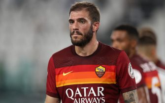 Davide Santon of AS Roma reacts during the Serie A match at Allianz Stadium, Turin. Picture date: 1st August 2020. Picture credit should read: Jonathan Moscrop/Sportimage via PA Images
