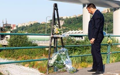 Samp e Genoa omaggiano vittime del ponte Morandi