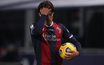 Aaron Hickey of Bologna FC during the Coppa Italia match at Renato Dall'Ara, Bologna. Picture date: 25th November 2020. Picture credit should read: Jonathan Moscrop/Sportimage via PA Images