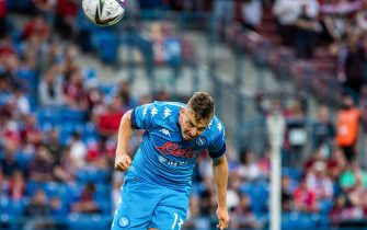 Amir Rrahmani of SSC Napoli seen in action during the Pre-Season Friendly match between Wisla Krakow and SSC Napoli at City Stadium in Krakow.(Final score; Wisla Krakow 1:2 SSC Napoli) - Mikolaj Barbanell / SOPA Images//SOPAIMAGES_SOPA014149/2108141207/Credit:SOPA Images/SIPA/2108141210