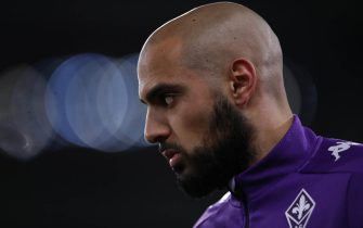 Sofyan Amrabat of ACF Fiorentina during the warm up prior to the Serie A match at Stadio Grande Torino, Turin. Picture date: 29th January 2021. Picture credit should read: Jonathan Moscrop/Sportimage via PA Images