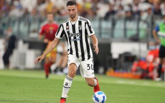 Turin, Italy, 14th August 2021. Rodrigo Bentancur of Juventus during the Pre Season Friendly match at Allianz Stadium, Turin. Picture credit should read: Jonathan Moscrop / Sportimage via PA Images