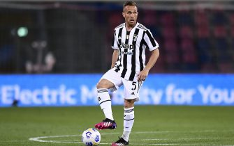 BOLOGNA, ITALY - May 23, 2021: Arthur Melo of Juventus FC in action during the Serie A football match between Bologna FC and Juventus FC. Juventus FC won 4-1 over Bologna FC. (Photo by Nicolò Campo/Sipa USA)