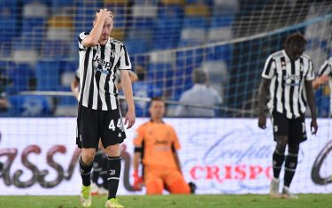 Juventus' players dejection  during  SSC Napoli vs Juventus FC, Italian football Serie A match in Naples, Italy, September 11 2021